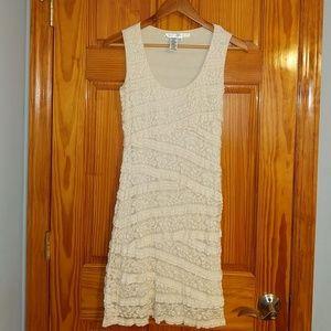 Creme lace summer dress
